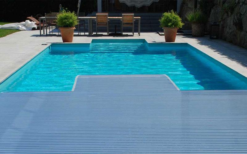 Schwimmbadabdeckung, Poolabdeckung, Solar-Lamellen, Rollladen