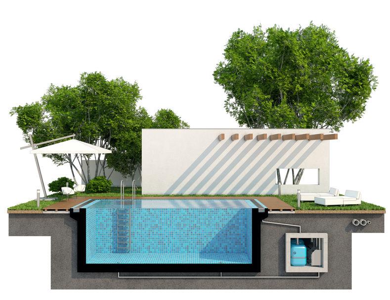 Bei einem Neubau kann auch ein grosser Pool eingeplant werden